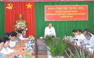 Khảo sát kết quả 10 năm thực hiện Quyết định 221 của Ban Bí thư Trung ương (khóa X) tại Hoà Thành
