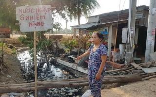 Xã Hiệp Tân: Nước thải ứ đọng gây ô nhiễm môi trường