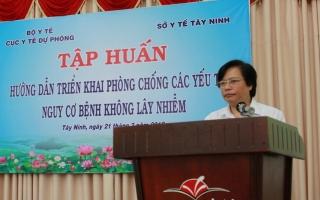 Tập huấn triển khai phòng, chống bệnh không lây nhiễm tại Tây Ninh