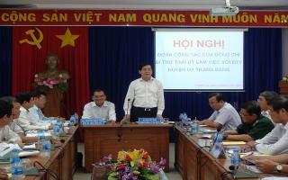 Bí thư Tỉnh uỷ làm việc với BTV Huyện ủy Trảng Bàng