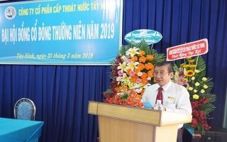 Đại hội cổ đông thường niên Công ty CP cấp thoát nước Tây Ninh