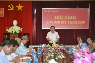 Tỉnh uỷ Tây Ninh giao ban công tác quý I.2019