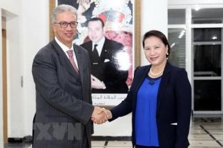 Chủ tịch Quốc hội gặp Toàn quyền Vùng Marrakech của Vương quốc Maroc