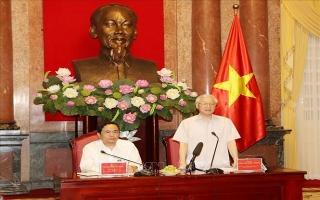 Tổng Bí thư, Chủ tịch nước gặp mặt đại diện Đoàn Chủ tịch Ủy ban Trung ương MTTQ Việt Nam