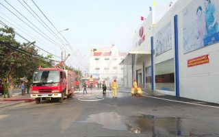 Thực tập phương án chữa cháy và cứu nạn, cứu hộ tại Co.opmart Tân Châu
