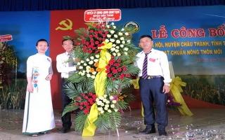 Hòa Hội đạt chuẩn xã nông thôn mới