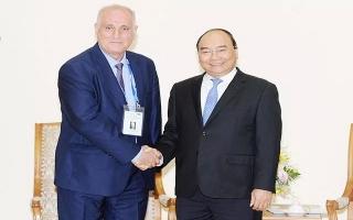 Thủ tướng Nguyễn Xuân Phúc tiếp Đoàn các hãng thông tấn dự Hội nghị Ban Chấp hành OANA lần thứ 44