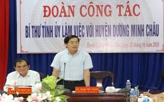 Huyện Dương Minh Châu phải chủ động trong phát triển kinh tế