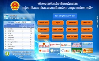 98 cơ quan, đơn vị áp dụng phần mềm quản lý văn bản (egov)