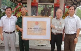 Công nhận Căn cứ 3, 4, 5 Biệt động thành Sài Gòn-Gia Định là Di tích lịch sử văn hoá cấp tỉnh