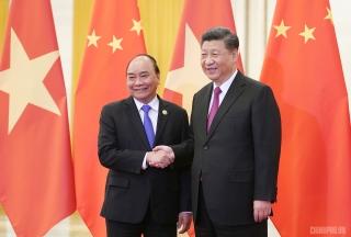 Thủ tướng hội kiến Tổng Bí thư, Chủ tịch Trung Quốc Tập Cận Bình