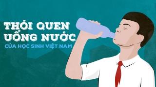 Thói quen uống nước của học sinh