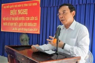 ĐBQH tiếp xúc cử tri trước kỳ họp thứ 7, Quốc hội khóa XIV
