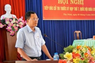 Đoàn ĐBQH tỉnh tiếp xúc cử tri Ninh Sơn