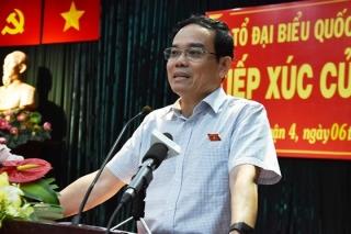 Phó Bí thư Thường trực Thành ủy TPHCM Trần Lưu Quang trả lời cử tri về vụ Nguyễn Hữu Linh