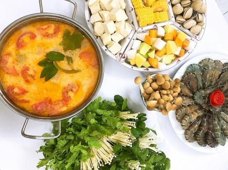 Hôm nay ăn gì: Cuối tuần làm lẩu thái chua cay cả nhà quây quần bên nhau