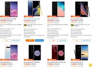 Smartphone cao cấp Samsung, Huawei giảm hàng triệu đồng