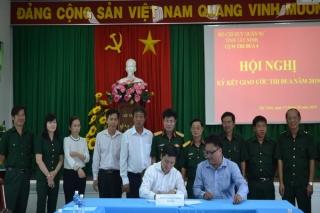 Cụm thi đua số 4 Bộ CHQS Tây Ninh ký kết giao ước thi đua