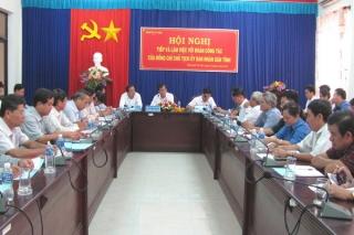 Chủ tịch UBND tỉnh làm việc với Thành ủy Tây Ninh