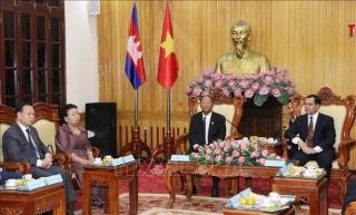 Chủ tịch Quốc hội Vương quốc Campuchia thăm tỉnh Hà Nam