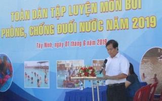 Phát động Ngày toàn dân tập luyện môn bơi phòng, chống đuối nước