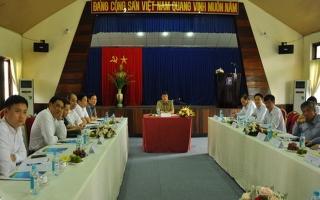 Bí thư Đảng uỷ khối Doanh nghiệp Trung ương làm việc với Công ty CP xăng dầu Tây Ninh