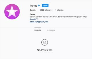 Apple xóa trang Instagram và Facebook của iTunes