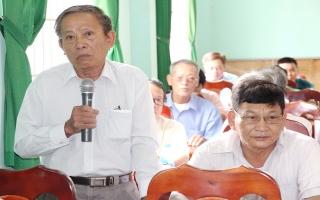 Đại biểu HĐND hai cấp tiếp xúc cử tri Châu Thành