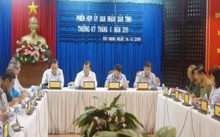UBND tỉnh tổ chức phiên họp thường kỳ tháng 6.2019
