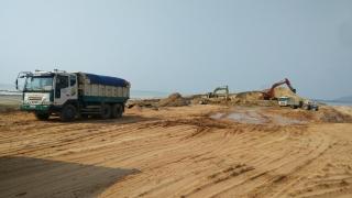 Giá cát xây dựng tạm thời hạ nhiệt