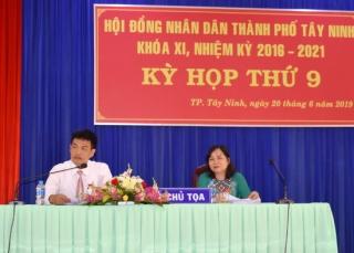 Khai mạc kỳ họp thứ 9 HĐND thành phố Tây Ninh