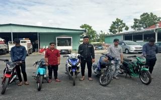 CATP.Tây Ninh xử lý nhóm đối tượng cổ vũ đua xe trái phép