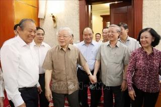 Tổng Bí thư, Chủ tịch nước Nguyễn Phú Trọng chủ trì cuộc họp Bộ Chính trị