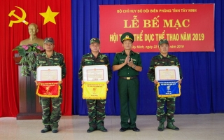 Bế mạc Hội thao thể dục thể thao Bộ đội Biên phòng Tây Ninh