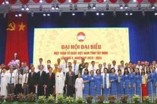 Đoàn kết, dân chủ, kỷ cương, đổi mới và phát triển * Ông Nguyễn Văn Hợp tái cử chức Chủ tịch UB.MTTQVN tỉnh Tây Ninh, nhiệm kỳ 2019-2024.