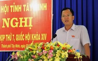 ĐBQH tiếp xúc cử tri Thành phố Tây Ninh.