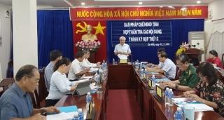 Thẩm tra nội dung trình tại Kỳ họp thứ 12 HĐND tỉnh