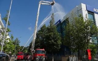 Diễn tập phương án chữa cháy và cứu nạn, cứu hộ tại Ngân hàng Á Châu Tây Ninh