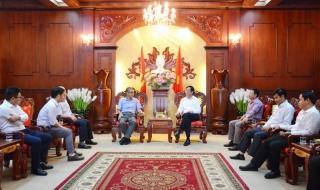 Bí thư Tỉnh ủy tiếp doanh nghiệp FDI đến thăm, chào xã giao