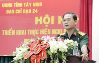 BCĐ 24 Tây Ninh triển khai Nghị định 102