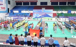 Khởi tranh Giải cầu lông các cây vợt thiếu niên, trẻ xuất sắc toàn quốc năm 2019