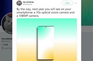 Điện thoại với camera 108 megapixel có thể ra mắt năm sau