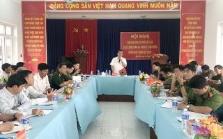 Giao ban công tác phối hợp giữa 3 lực lượng Công an, Quân sự, Biên phòng