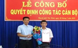 Thành ủy Tây Ninh công bố và trao quyết định về công tác cán bộ