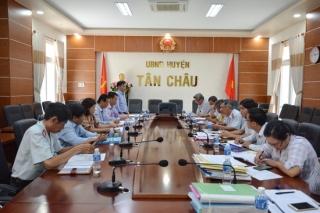 Ban Dân vận Tỉnh uỷ làm việc với huyện Tân Châu