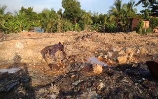 Cần giám sát việc xử lý bãi rác nguy hại tại xã Đôn Thuận