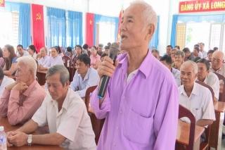 Đại biểu HĐND hai cấp tiếp xúc cử tri Bến Cầu