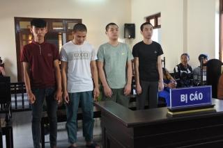 Trộm cắp xe mô tô, 4 bị cáo lãnh án hơn 12 năm tù
