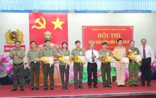 Công an tỉnh tổ chức Hội thi báo cáo viên giỏi