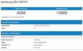 Hiệu năng Note10 dùng chip Snapdragon 855 có thể cao hơn bản Exynos 9825